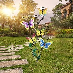 Butterfly Garden Stake Decor
