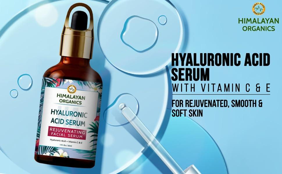 Himalayan Organics Hyaluronic Acid Serum for face Youth with Retinol, Vitamin C & E