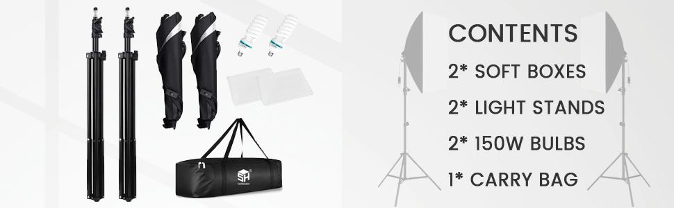 photography lighting softbox lighting kit