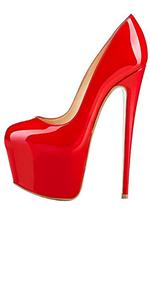 red platform heel
