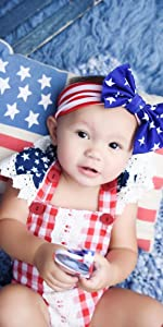 baby girl 4th of july romper outfits