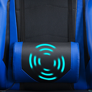 Adjustable massage lumbar support cushion