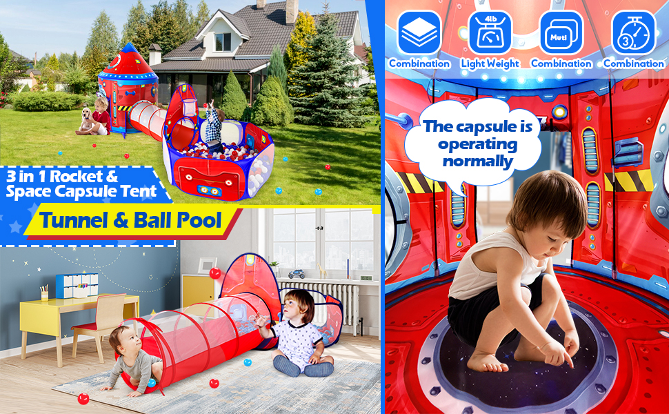 The Kids Tunnel Set suit for 3+ years old boy