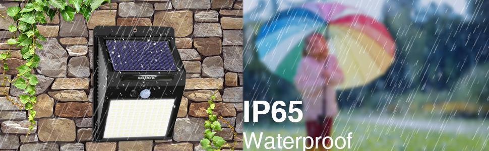Solar IP65 waterproof motion sensor reminder infrared induction speaker