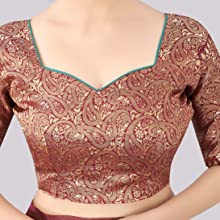 with blouse