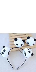 cosplay panda headband