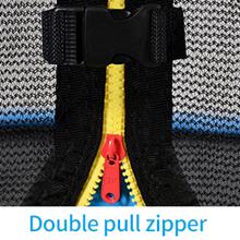 Double Zipper amp; Amp Buckle Closure System