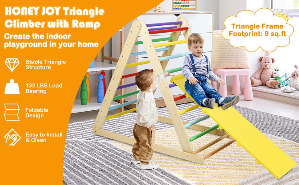 honey joy triangle climber with ramp