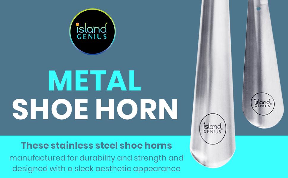 Island Genius Metal Shoe Horn Set of 2