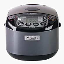 rice cooker front view with MICOM emblem
