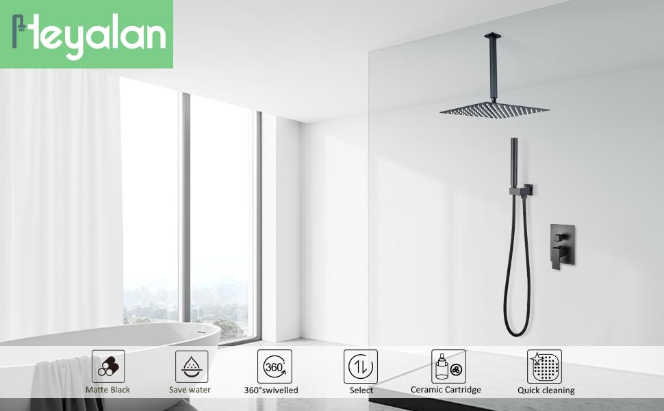 Matte Black Shower System