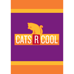 """Cats R Cool"" garden flag"