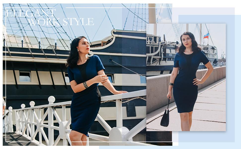 Elegant style, make you charming in work.