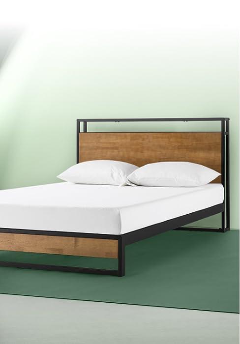 Suzanne Platform Bed Frame with USB Shelf