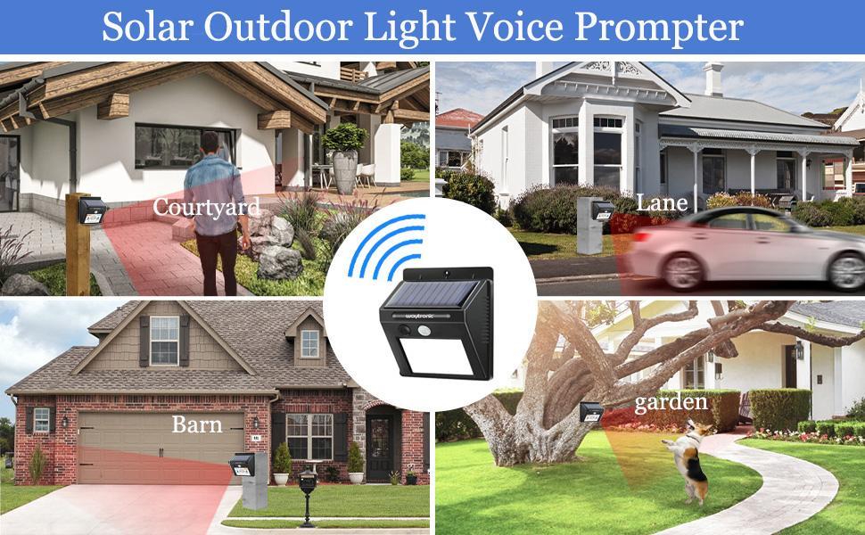 Solar Outdoor Light Voice Prompter