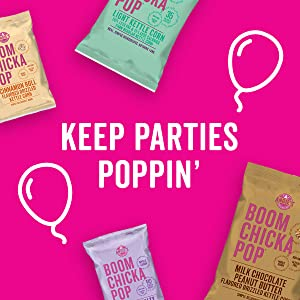 Keep parties poppin' with Angie's BOOMCHICKAPOP Kettle Corn in a variety of bag sizes