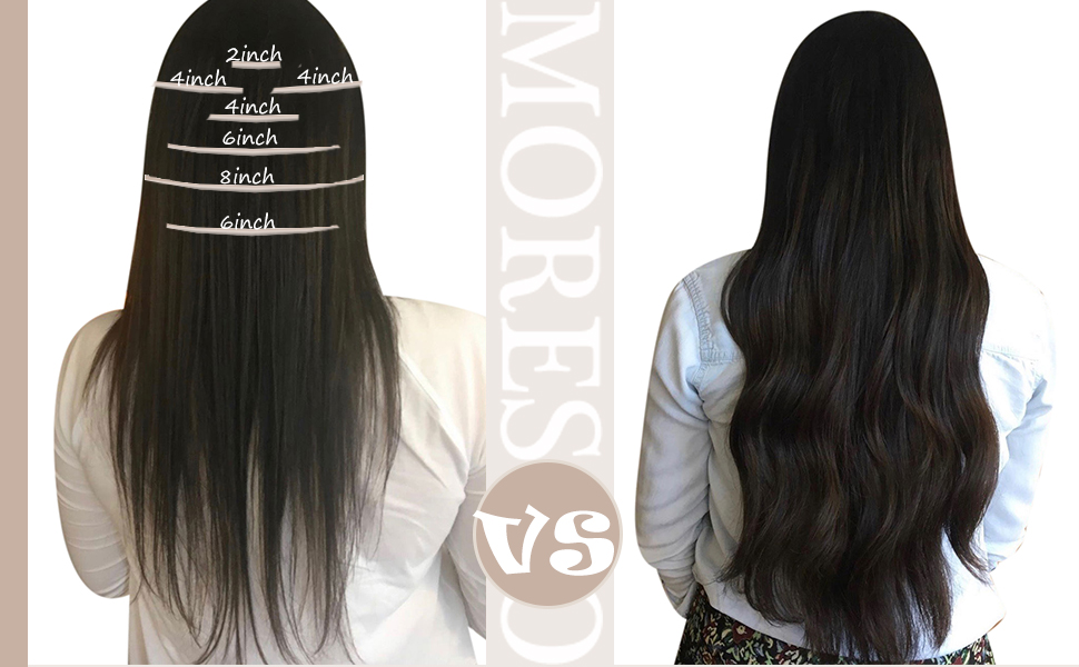 clip in hair extensions before amp; after
