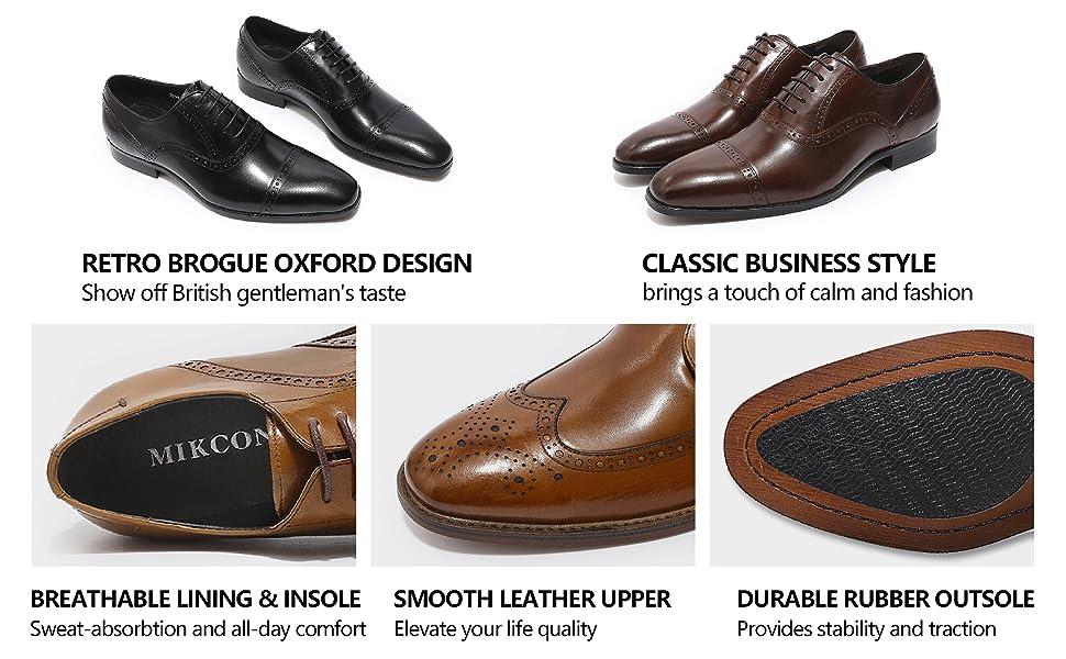 men's leather dress oxfords