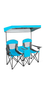 two personal canopy chair