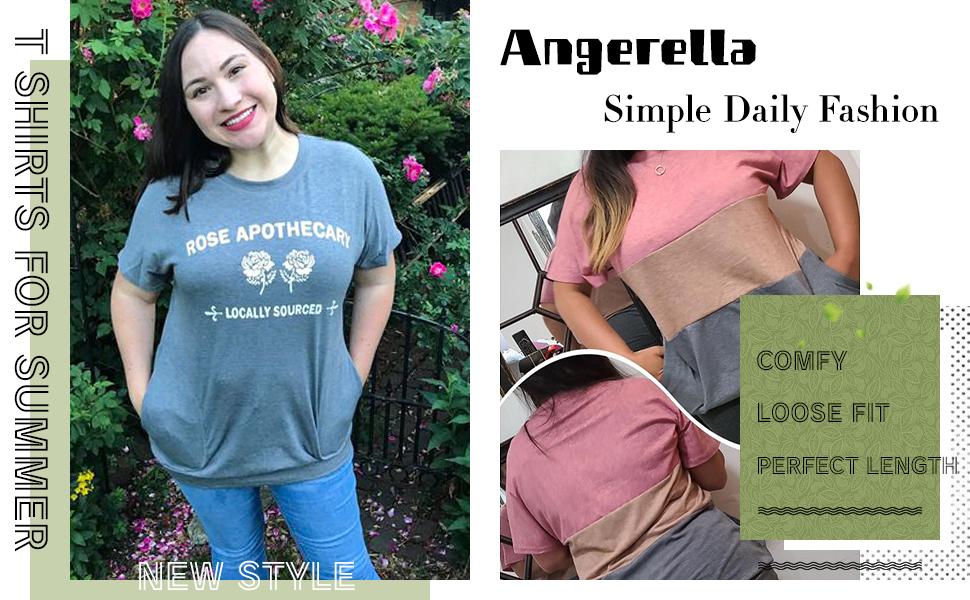 Angerella Comfy Loose Fit Tunic Shirts