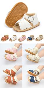 Rubber sole sandals