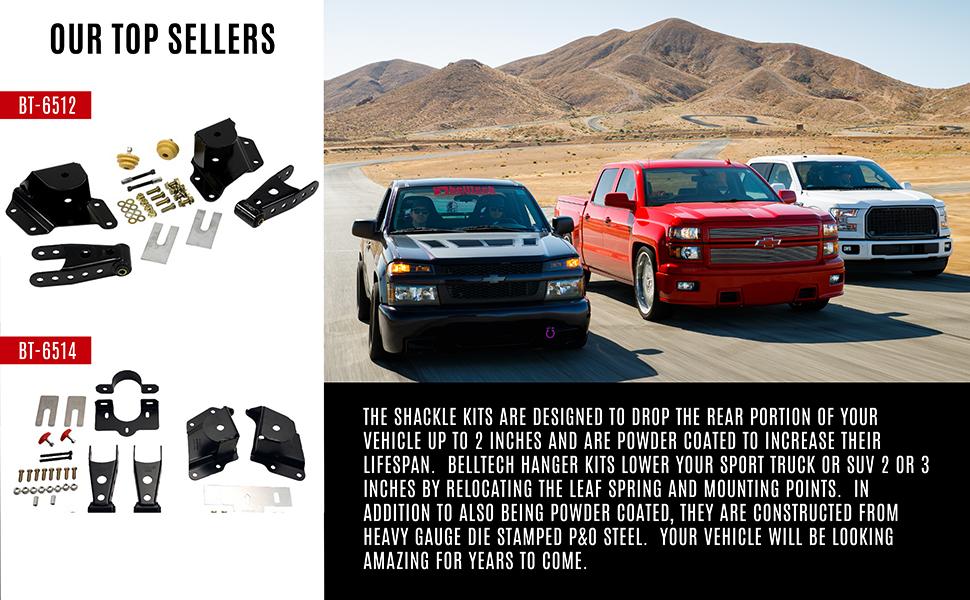 Belltech Shackle and Hanger Kit