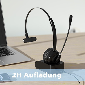 Kabelloses headset mit Ladezeit
