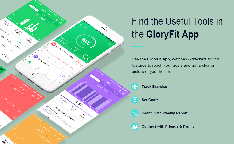 Find the useful tools in the GloryFit APP