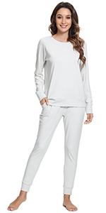 women jogger running pants sweatpant loungewear workout pant bamboo pajama top sport t shirt