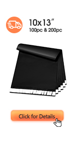 Metronic Poly Mailers 10x13 Black