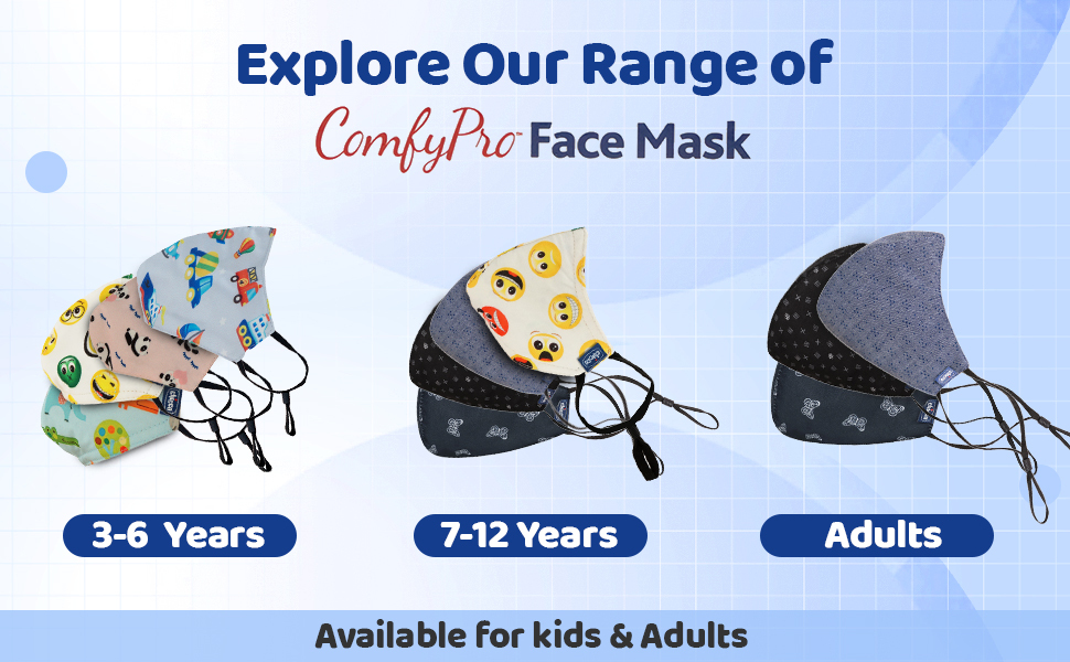 Stylish mask, different design and prints, multicolor mask, stylish and safe, for adults and kids