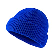Acrylic Knit Cuff Beanie Cap Daily Beanie Hat