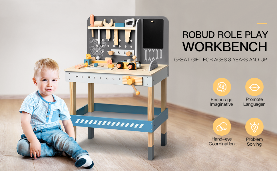 tool table bench  3 4 5 6 years old toddler boy girls
