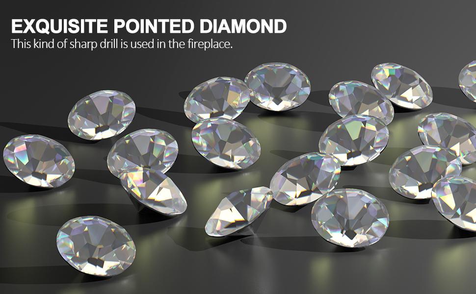 crystal diamond fireplace
