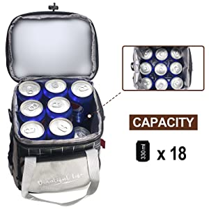 Larger capacity lunch bag