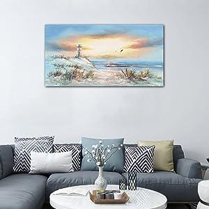 sunset seascape wall art
