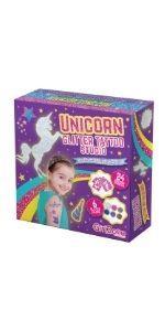 set de tatuajes brillantes de purpurina para niñas unicornio manualidades regalos niñas
