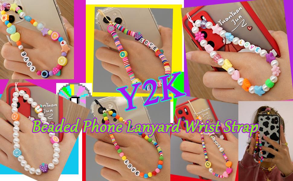 Handmade Rainbow Polymer Clay Acrylic Beads Pearl Bracelet Keychain