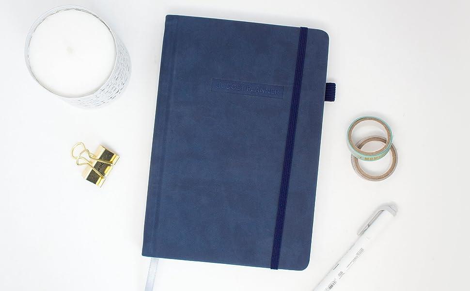 bloom undated monthly budget planner navy blue
