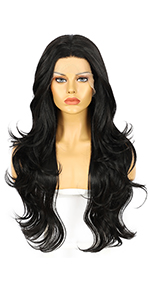 #2 Dark brown lace front wigs