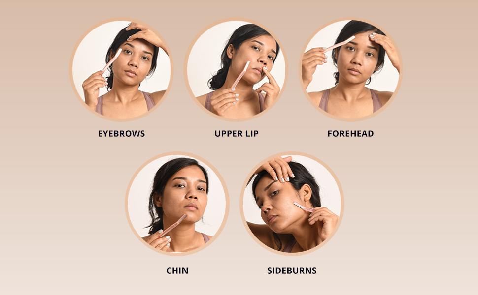 Where to use a facial razor?
