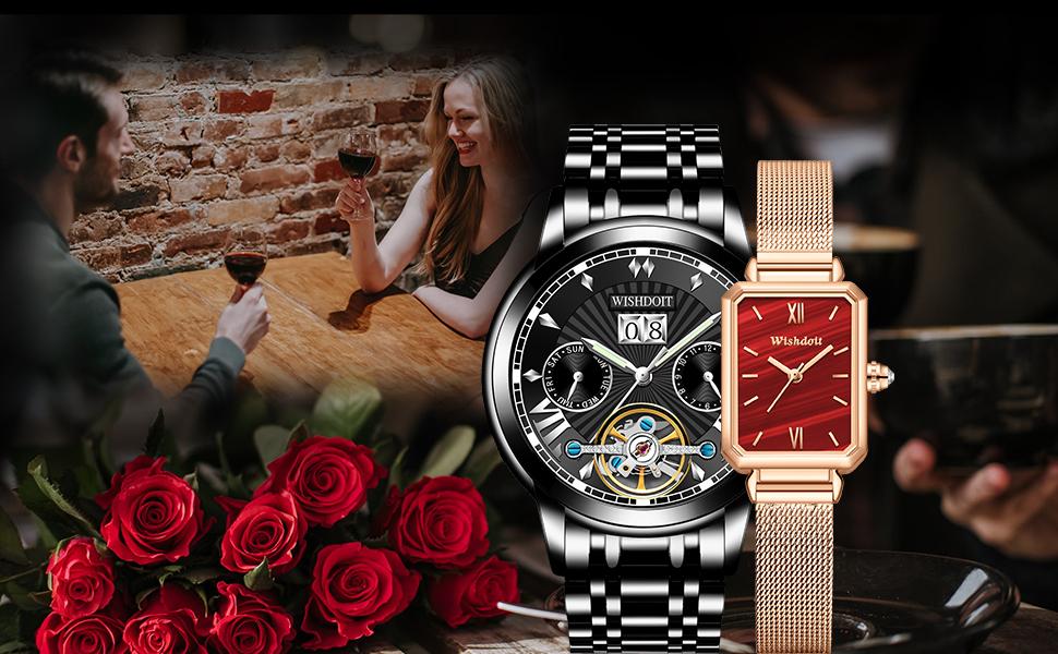 Mechanical men's watch, quartz women's watch, couple watches