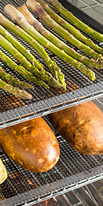 Fish and vegetable smoking mat