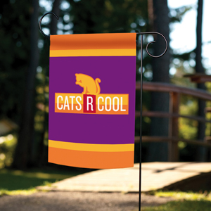 Garden flag with cats are cool design