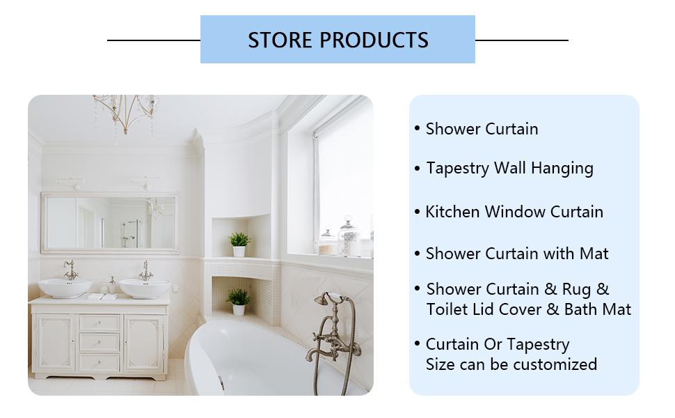 Shower Curtain for Bathroom