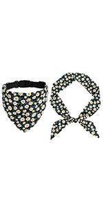 dog floral bandana collar