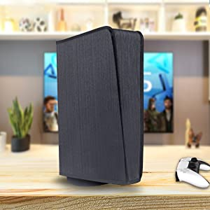 ps5 dust cover black