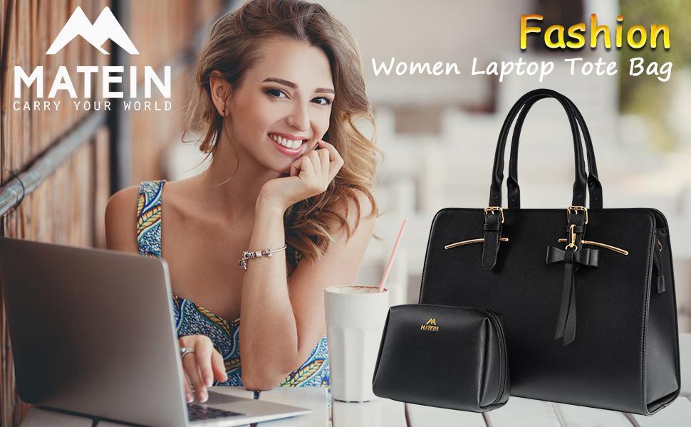 Matein Laptop Tote Bag for Women