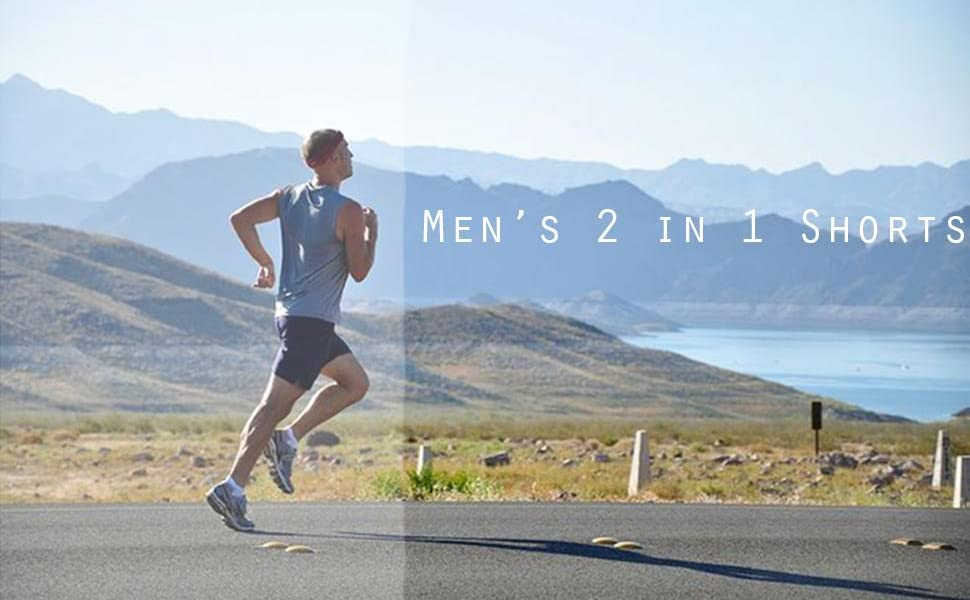 Men's 2 in 1 Shorts