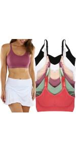 womenamp;#39;s pack of six sports bras
